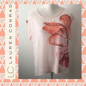 LC Sheer Floral Top